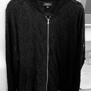 Torrid Size 2x, lace bomber jacket, plus size